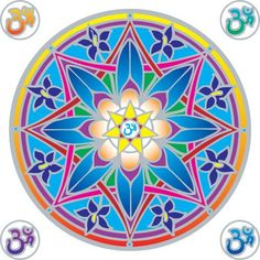 Ohm Flower Mandala - my first design for the company Illumination Mandalas who sells these transparencies all over the world. Good to see it on other Pinterest pages!