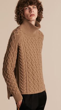 Wool Cashmere Cable Knit Jumper | Burberry