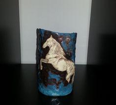 Vase  Horse  Turquoise by RANDALRIKABI on Etsy