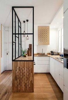 Gorgeous 36 Affordable Mid Century Kitchen Decor I Scandinavian Kitchen, Scandinavian Kitchen Design, Mid Century Kitchen Decor, Kitchen Remodel, Kitchen Decor, House Interior, Home Kitchens, Minimalist Kitchen, Kitchen Design