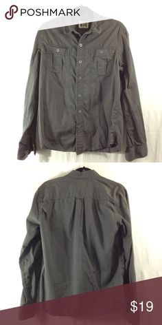 Converse dark grey button-up Good condition. Bundle 3+ from me and save 15%, only pay shipping ONCE, and get a free gift! Converse Shirts Casual Button Down Shirts