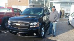 Chris you did good and got your wife what she wanted:) Thanks Lori Brown and Lenny for referring Chris and his wife to purchase their new Tahoe!  Jay Grosman www.TalkingCarsWithJay.com Bommarito St.Peters