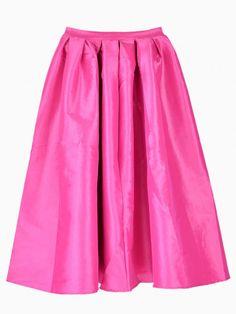 Reg+Price+$45  Rose+Red+Flare+Pleated+Midi+Skirt Description+ Waist+Size(Cm):62cm Size+Available:one-size Length(Cm):60cm Pattern+Type:Plain Silhouette:Flared Dresses+Length:Knee+Length Color:Rose+Red/Pink Style:Vintage