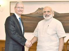Slideshow : Tim Cook meets PM, updates 'Narendra Modi' app - The Economic Times