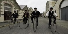 Explore some of New Zealand's best and most complete Victorian streetscapes in Oamaru's Victorian Precinct Penny Farthing, New Zealand, Bicycle, Street View, Victorian, Bike, Bicycle Kick, Bicycles