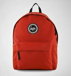 Hype Plain Backpack Red