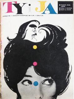 Ty i Ja magazine (11, 1961) cover by Roman Cieślewicz