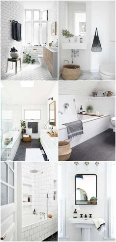 Minimalist and Modern bathroom decor inspiration.