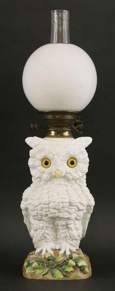 A large German porcelain novelty oil lamp   Lot 61   5