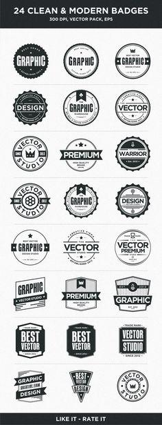 24 Clean Badges by Firman Suci Ananda via Behance