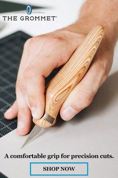This ergonomic art scalpel looks as good as it feels in your hand while you work. Learn more about the careful design features that target a better experience. Fun Arts And Crafts, Crafts To Make, Easy Crafts, Lathe Projects, Craft Projects, Craft Ideas, Love Sewing, Preschool Crafts, Wood Turning