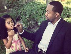 Jaleel White & His Daughter