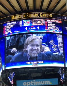 Trey's at a NY Rangers playoff game .  He is a Flyers fan if I'm not mistaken??