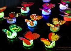 LED fiber luminous butterfly simulation butterfly light OEM production gift