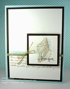 Stampin' Up, By the Tide, Work of Art, Good Greetings, Love