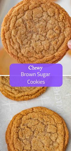 13 Cookie Recipes You Need in Your Collection - LeckerSchmecker - Best Cookies Brown Sugar Cookies, Sugar Cookies Recipe, Yummy Cookies, Yummy Treats, Sweet Treats, Brown Sugar Cookie Recipe, Candy Cookies, Cookie Desserts, No Bake Desserts