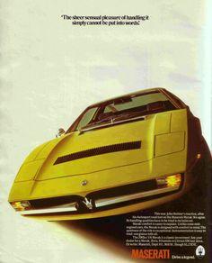 Maserati Alfieri, Maserati Merak, Maserati Car, Bugatti, Retro Cars, Vintage Cars, Automobile, Honda Prelude, Car Photos