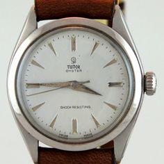 """Original Tudor Oyster """"Vintage"""" model with the Rolex Rolex crown and lid from 1959 Tudor, Rolex, Vintage Models, Oysters, Omega Watch, Crown, Watches, Scale Model, Corona"""