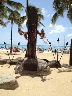 Duke Waikiki Beach Oahu Hawaii....pass this on my way to work everyday #islandliving