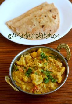 Cauliflower kurma is very simple to prepare and goes well with chapati ,  parathas , poori  and other rice dishes like peas pulao , jeera pu...