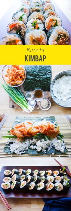 A home cooking Korean staple. The easiest kimchi kimbap.