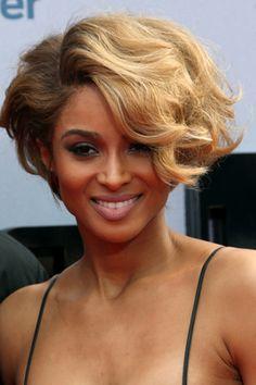 Ciara Short Wavy Bob Hairstyle - Short Hairstyles for Wavy Hair