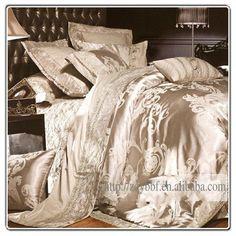 4pcs Luxurious king silk bedding set/duvet cover-in Bedding Sets from Home & Garden on Aliexpress.com