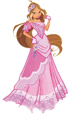 Flora Winx Club Ball Gowns