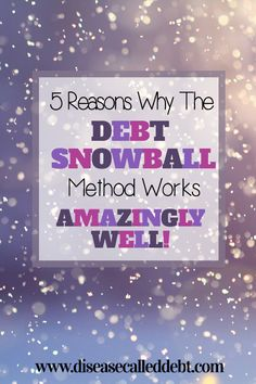 The debt snowball method: how it works and WHY it works so well to eliminate debt. Read this before trying to tackle your debt with the highest interest rate!