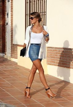 Chic spring glamour casual