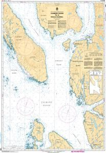 CHS Nautical Chart 3982: Caamaño Sound to/à Whale Channel