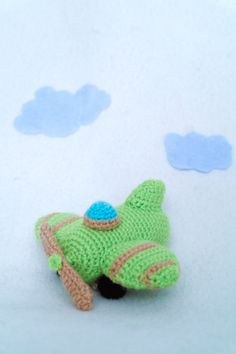 crochet toy airplane
