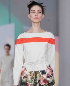 Add one bold stripe with fabric paint NYFW F2012 Preen