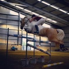 for all the people who hate stirrupless riding look at her. the trick is to use your calf. look at her position that is muscle work