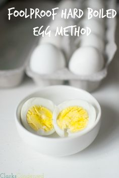 The Perfect Hard Boiled Egg: This is a foolproof method for cooking hard boiled eggs that will leave you with an easily peal-able and delicious egg!