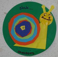 Laat de kinderen diverse cirkels uitknippen in verschillende kleuren en maten.