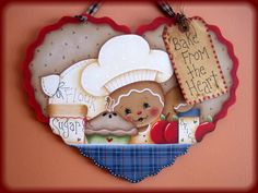 Bake From the Heart Gingerbread Painting E-Pattern