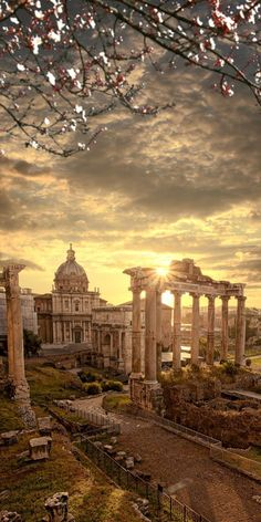 Famous Roman ruins, Rome, capital city of Italy