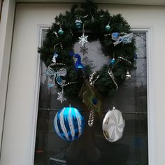 Christmas wreath for my front door.