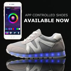 Men Shoes APP Remote New Control 8 Colors LED Shoes Large Size LED Light Up Shoes for Men Adults Luminous sneker Fashion Unisex