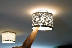 Update recess lighting without doing any electrical work with magnetic shades.   27 Cheap Ways To Upgrade Your Home