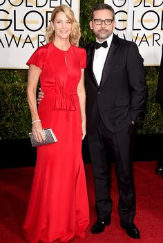 Nancy Carell and Steve Carell, in Berluti The 2015 Golden Globe Awards: Live From the Red Carpet - Gallery - Style.com