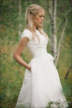 123 short sleeve wedding dress trend 2017 (1)