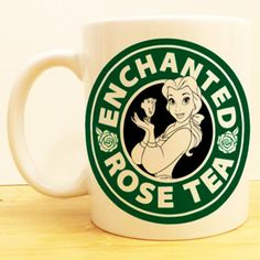 Enchanted Rose Tea Coffee Mug | Beauty and the Beast Starbucks | Disney
