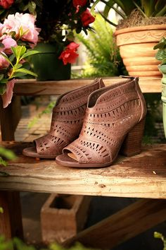 Groove Thang Ankle Bootie in Brown