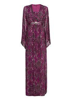 MANGO - Длинное шифоновое платье с принтами