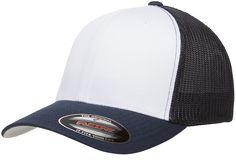 Flexfit Trucker Mesh with White Front Panels - Flexfit Yupoong Blank Hats dfb93b021a2b