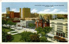 A bird's-eye view of Toledo from Courthouse Square. City Journal, Toledo Ohio, Influenza, University Of Michigan, Altars, Bird, Eye, Mansions