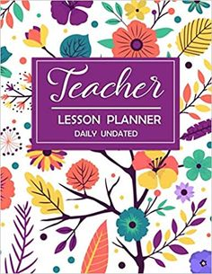Teacher Lesson Planner Daily Undated Academic Year Lesson Plan Large Organizer Floral | Flower | Purple Cover for Women #teacher #lesson #planner Teacher Lesson Planner, Planner Journal, Floral Flowers, Organization, How To Plan, Purple, Cover, Getting Organized, Organisation