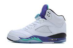 Nike Air Jordan AJ5 Retro Jordan 5 Basketball Shoes Men And Women Shoes White Purple Garpe only US$98.00 - follow me to pick up couopons.